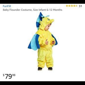 Flounder baby costume